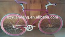 Customized size Carbon 700C Single Speed steel Bike fixed gear
