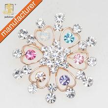 2014 beautiful korean fashion snowflake jewelry pin cheap crystal rhinestone wedding brooches wholesale in bulk