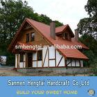Quick assemble Wood house log frame cabins prefab wooden villa timber homes