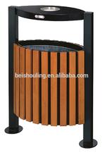 ECO steel- wooden waste bin