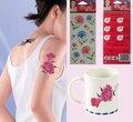 transferência temporária de água de flor de papel de impressão de tatuagens
