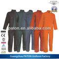 Confortável algodão sarja de uniforme de trabalho, trabalho coverall, custom made desgaste do trabalho