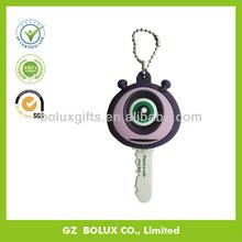 Blue big eye soft pvc rubber plastic LED key cover key holder stander