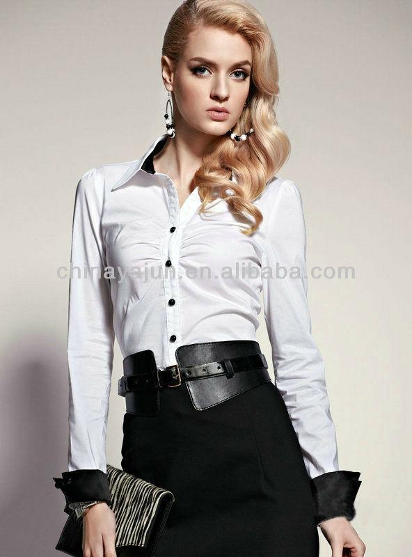 Blusas para uniformes de mujer - Imagui