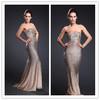 Sleeveless Beaded Shiny Sexy Grace Evening Dresses Mermaid Cut