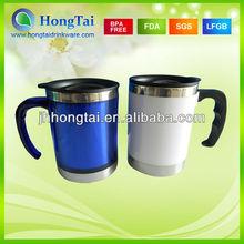 16oz BPA Free Inner Stainless Steel Outer AS Travel Mug & Coffee Mugs