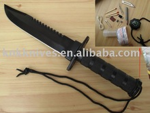 jungle king tactical rescue survival bowie knife with rescue bottle