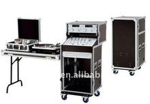 Movable DJ equipment flight case