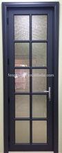 ประตูไม้เนื้อแข็งแกะสลักประตูไม้โอ๊คสีขาว
