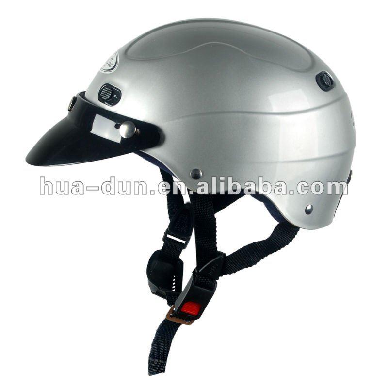 HD Half Face Motorcycle Helmet, silver ABS shell strong helmet HD-318