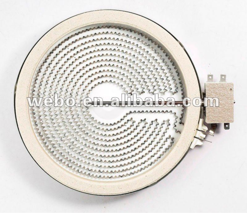 200mm 2000W 220V Ceramic Heater HL-T200R