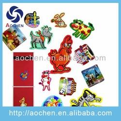 promotional custom rubber souvenir paper fridge magnet
