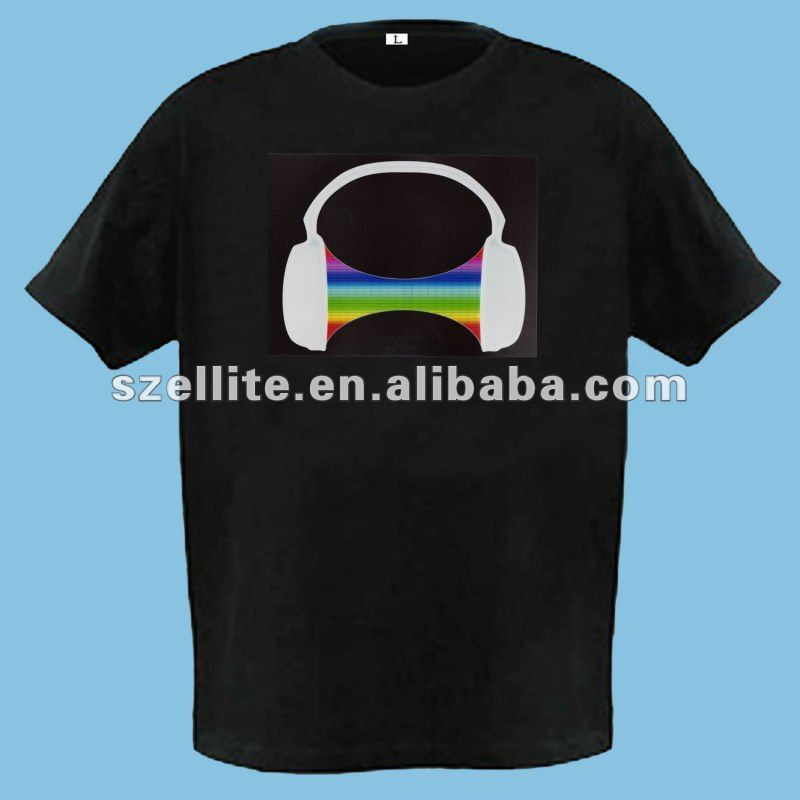 Fantastic Led sound activated t-shirts