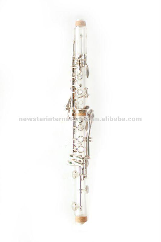 Bb amber/transparente clarinete