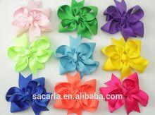 Solid Ribbon Hair Bows For Baby Girls Sacarla13111212