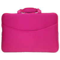neoprene noteook laptop sleeve case bag cover with handle and pocket fit for 15' laptop