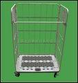 Placa de base de resina de carro de supermercado, carrito, almacén con carro de ricino