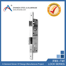 Door lock with 54 mm cylinder in chrome plated color, security lock, door lock