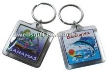 clear acrylic plastic key ring