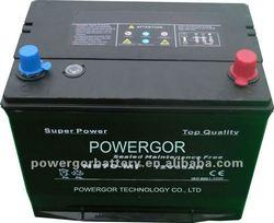 12V65Ah Japan standard MF Auto Battery
