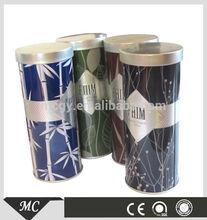 Beautiful Creative Round Tall Perfume Packing Tin Can And Box