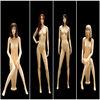 2014 New arrival lifelike male up women dummy female mannequin dress forms