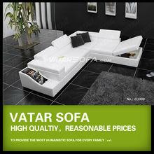 Vatar indiana de madeira sofá de design com caixa de armazenamento, Elegante sofás