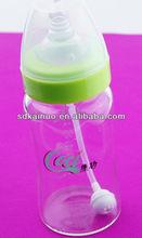 BPA free glass milk feeding bottle
