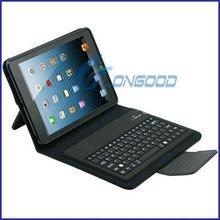 2014 New coming Bluetooth Wireless Keyboard Leather Case for iPad Mini