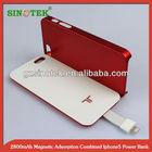 SINOTEK 2800mah magnetic case external battery for iphone5
