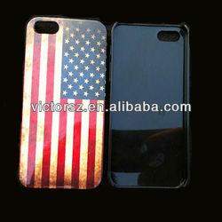 For iPhone 5 Flag Case Cover,Retro USA Flag Phone 5 Case Design Own