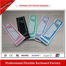 2.4g silicon flexible wireless keyboard