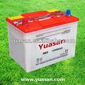 12v 60ah seco cargado de automoción de plomo 12v seco de la célula de la batería del coche n60 yuasan de la marca