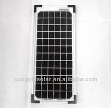 Small power Solar Flash light solar pv panel 5W 18V