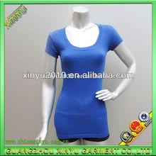 women cotton 3/4 sleeves fitting t shirt