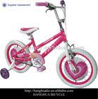 HH-K1641 16 inch beautiful bmx kids bike for girls with wheel card