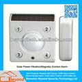Solar de energía de vibración/magnética de contacto de alarma de movimiento con construido- en recargable li-ion bateador de copia de seguridad