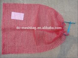red mesh bag drawstring for packing potatoes