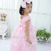 New design! hot light pink layered kids dresses for weddings
