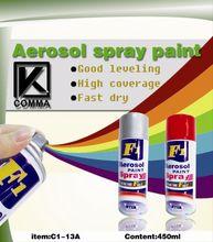 Arylic aerosol Auto Car Paint Metallic Colors