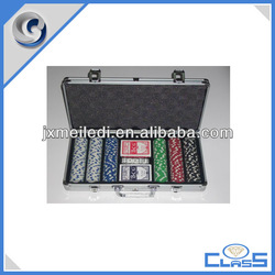 2013 promotion 300 poker chip set with silver case