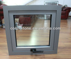 CE/CSA/AAMA Aluminum top hung window with double tempered glass