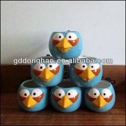discount novelty design printed blue ceramic bird cup