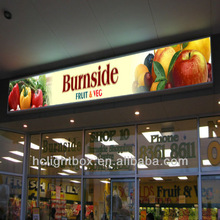 new hot exterior wall mounted shop name signs shop front signboard poster frames billboard