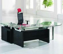 hot sale L shape office glass executive desk, hot sale manager desk ,new design glass manager table