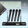 Profissional de 4 canais UHF sistema de microfone sem fio