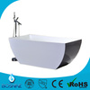Modern indoor clear acrylic free standing bathtub