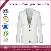 100% Polyester One Button Fashion Design Men Blazer Suit