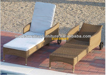 Cane Beach sun loungers - China Outdoor Furniture