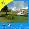 luxury prefabricated villa house on construction